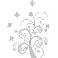 Zidni tatoo Dream Tree U06B 106x150cm C0C7C3 - Kliknite za detalje