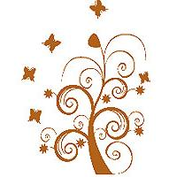 Zidni tatoo Dream Tree U06B 106x150cm B1621B - Kliknite za detalje