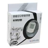 Sapphire Ivory White 512MB USB 2.0 - MP3 player - Kliknite za detalje