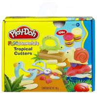 Hasbro Play-doh plastelin set Fundamentals Tropical Cutters 23998 - Kliknite za detalje