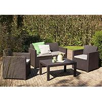 Wicker Ratan Lounge Set Shirley - 2 Fotelje, Dvosed i Sto - Kliknite za detalje