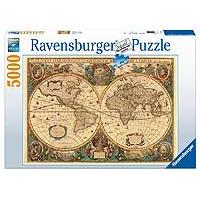 Ravensburger puzzle Antique World Map 5000 delova 01-174119 - Kliknite za detalje