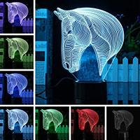 3D LED Lampa Hearts