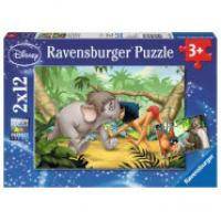 Ravensburger puzzle  Dečije puzle - 2x12 - Disney - The Jungle Book - Mowglis friends  2x12 delova  RA07587 - Kliknite za detalje