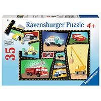 Ravensburger puzzle Dečije puzle - 35 - Tires and Engines   35 delova RA08781 - Kliknite za detalje
