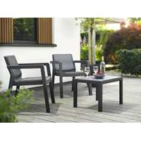 Balkonska garnitura Emilly Patio Graphite 247062