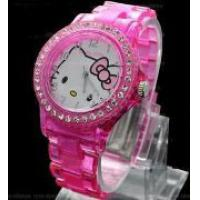 Hello Kitty Ručni časovnik 5706 clear pink