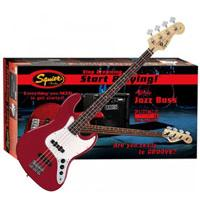 Bas gitara Squier By Fender Affinity J Bass w i pojačalo Rumble 15 Amp Metallic Red