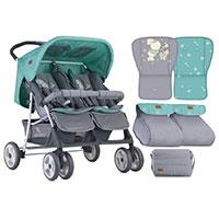 Lorelli Kolica za blizance Twin Grey And Green Bunnies - Kliknite za detalje