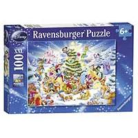 Slagalica Ravensburger 100 delova -  Disney Christmas Magic 10545 - Kliknite za detalje