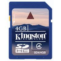 Kingston SDHC memorijska kartica SD4/4GB - Kliknite za detalje