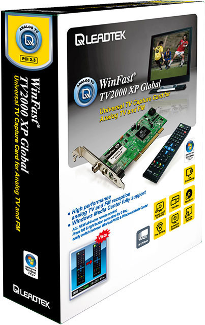 Leadtek PCI WinFast TV2000 XP Global