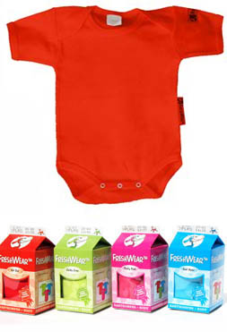 FreshWear Baby body Hot Red vel.62/68 160001