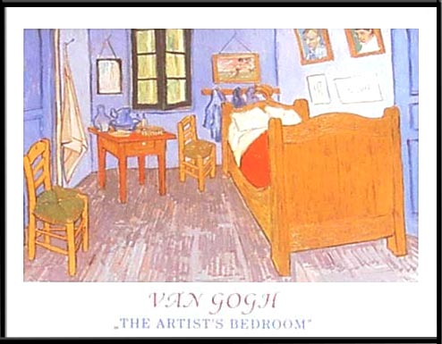 Van Gogh - The artists bedroom  - 40/50 HPLN
