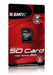 SD card HighSpeed 60x - 256Mb - Emtec (BASF)