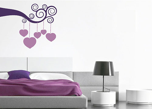Zidni tatoo Under the Hearts R04 80x60cm 005733 DB5316