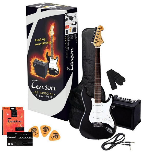 Tenson E-Guitars ST Player Pack F502.542