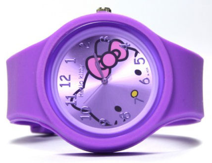 Hello Kitty Ručni časovnik 5708 silicone purple