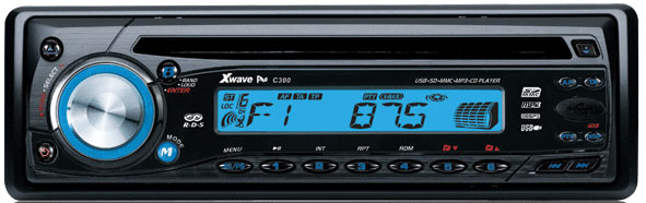 Xwave CD/MP3/USB/SD/MMC/FM auto plejer C300 blue 012914