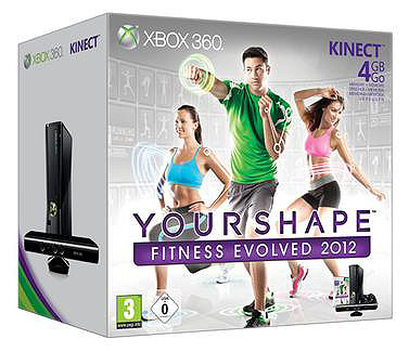 Xbox360 Slim 4 GB + Kinect + Your Shape Fitness Evolved 2012
