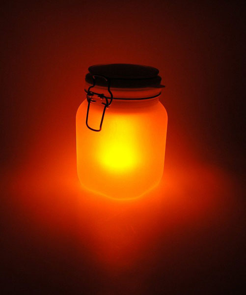 SuckUK Led noćno svetlo Sun Jar yellow