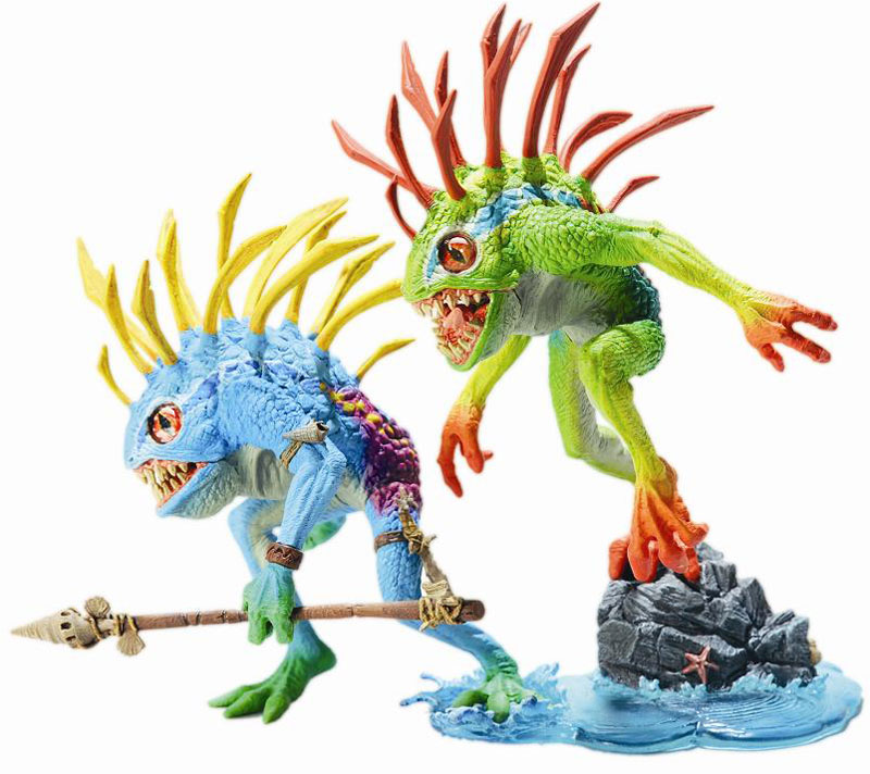 Akcione Figure World of Warcraft S4 Murloc 2-pack: Fish-eye and Gibbergill