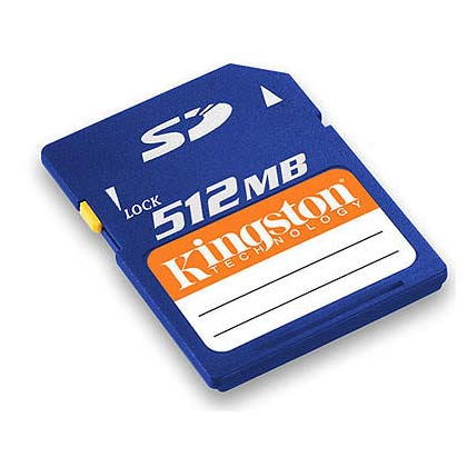Kingston SD card 512 MB