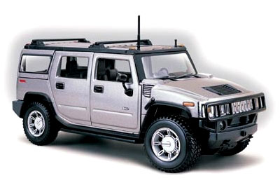 Hummer H2 SUV 2003 1/27 Stealth Gray - 19096/31231