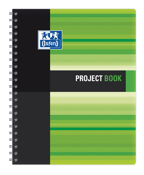 Sveska Oxford Student Project book 233x298mm kvadratići 06XS4 Green