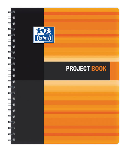 Sveska Oxford Student Project book 233x298mm kvadratići 06XS4 Orange