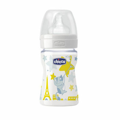 Chicco plastična flašica sa silikonskom cuclom Well-Being 150ml  0m+  00070702000080