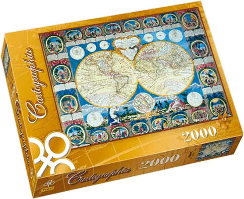 A Map of the Earth 1788 - Abbe Clouet Puzzle - 2000P/27025