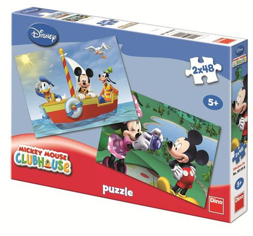 Dino puzzle 2x48 kom Mickey Mouse 123929