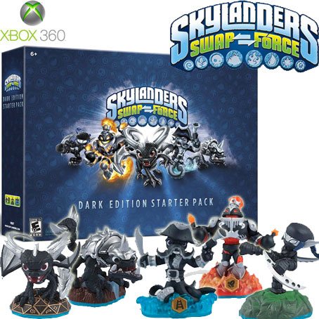 XBOX360 Skylanders SWAP Force Dark Edition Collectors Starter Pack