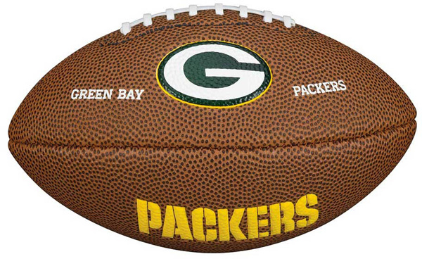 Wilson mini lopta za američki fudbal NFL Mini Green Bay Packers WTF1533XBGB