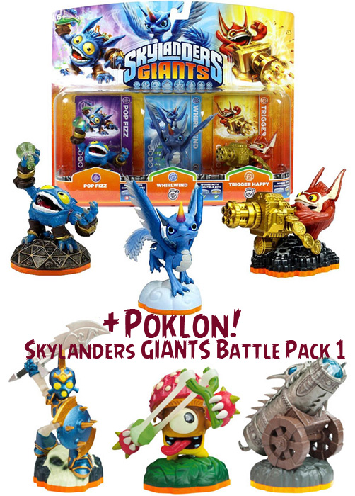 Skylanders GIANTS Triple Pack A + poklon Battle Pack 1 016733+016766