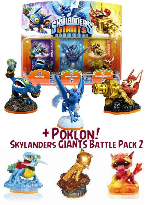 Skylanders GIANTS Triple Pack A + poklon Battle Pack 2 016733+017504
