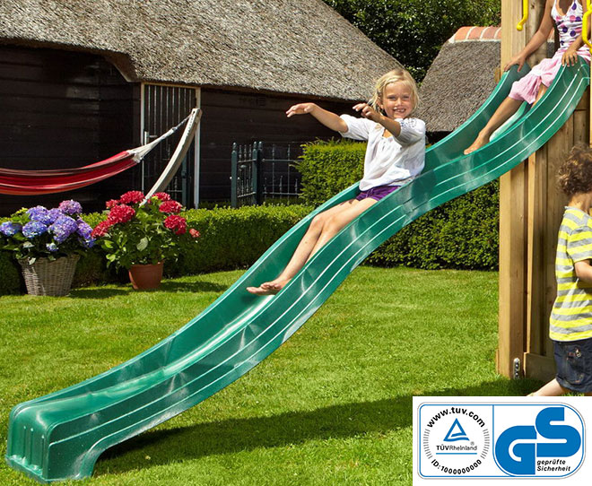 Tobogan Spust 300 cm Jungle Gym sa TUV Sertifikatom - Green