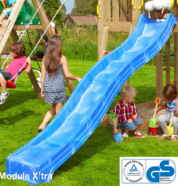 Tobogan Spust 300 cm Jungle Gym sa TUV Sertifikatom - Blue