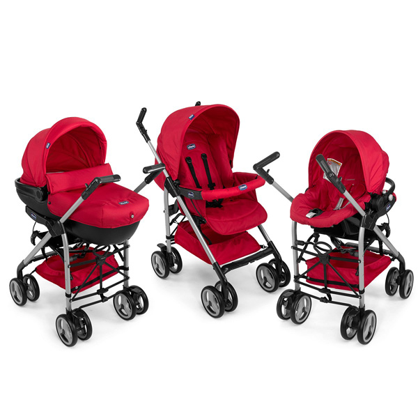 Chicco 3u1 Set Kolica Trio Sprint Red Wave 07079365930000