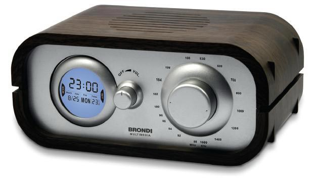 Brondi radio budilnik - brown