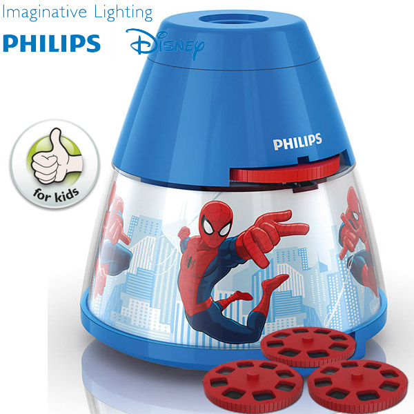 Lampa projektor Philips Disney Spiderman 71769/40/16