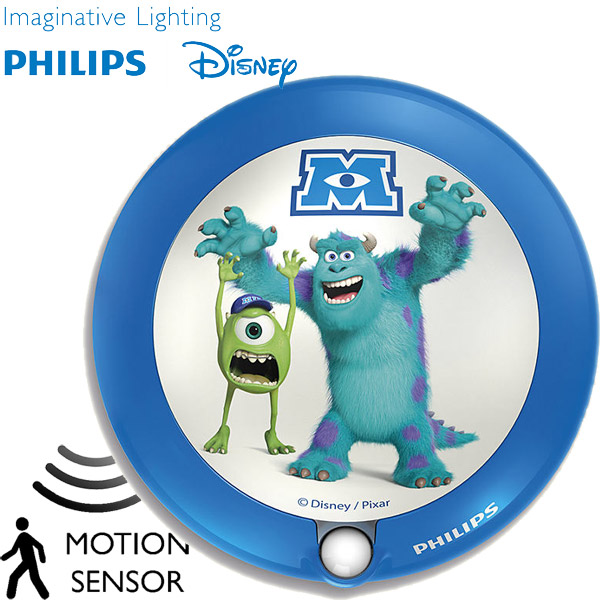 Lampa noćno svetlo sa senzorom pokreta Philips Disney Monsters University 71771/55/16