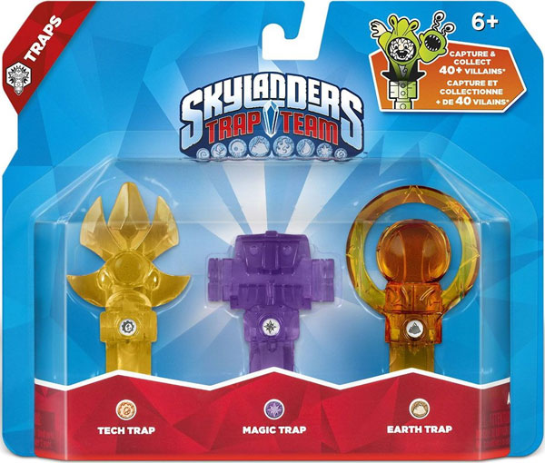 Skylanders Trap Team Tri Zamke - Triple Trap Pack Tech Scepter + Magic Log Holder + Earth Orb 87276EU