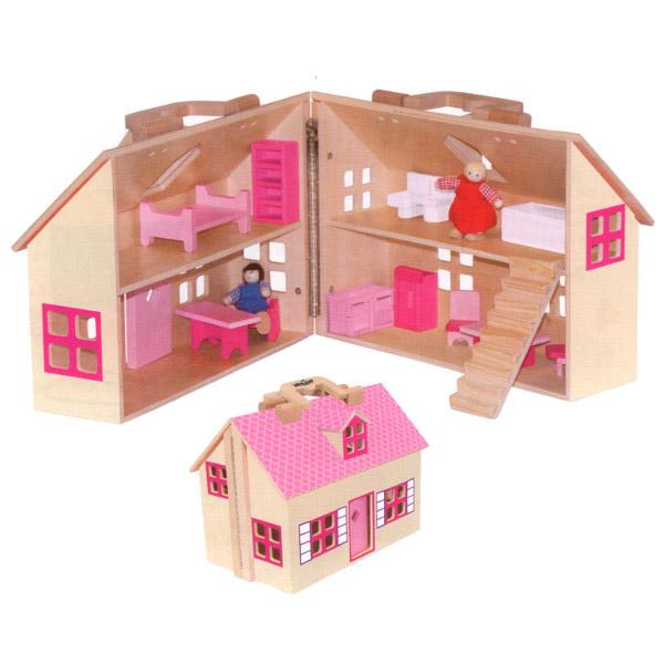 WoodyLand Kućica za lutke Trendy na sklapanje 91323: Kućice i oprema za lutke...