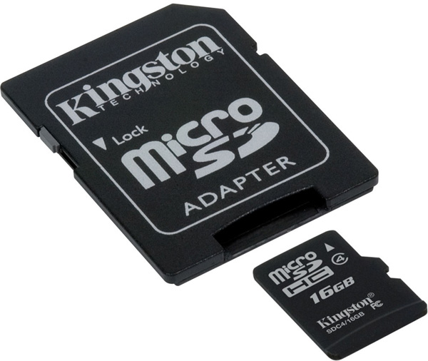 Micro SDHC memorijska kartica sa SD adapterom 16 GB Kingston SDC4/16GB
