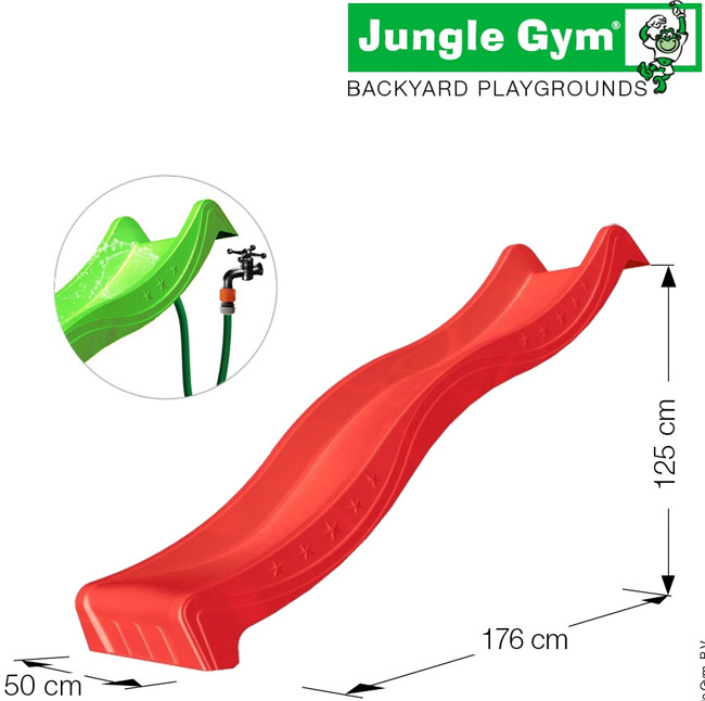 Vodeni Tobogan Spust 2.2 m - Jungle Gym Sa TUV Sertifikatom Red