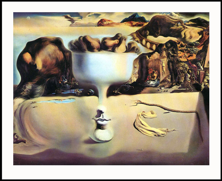 Reprodukcija slike Apparition of a Face and Fruit Dish on a Beach Salvador Dali