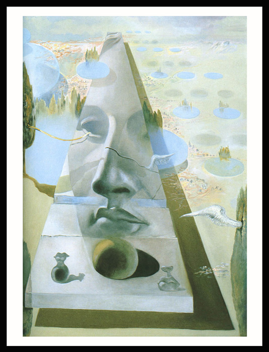 Reprodukcija slike Apparition of the Visage of Aphrodite of Cnidos (Piramida) Salvador Dali