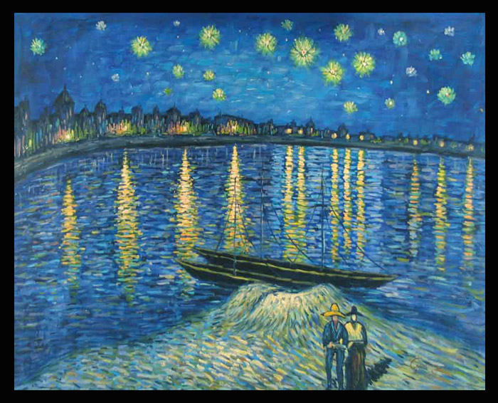 Reprodukcija slike Starry Night over the Rhone Van Gogh